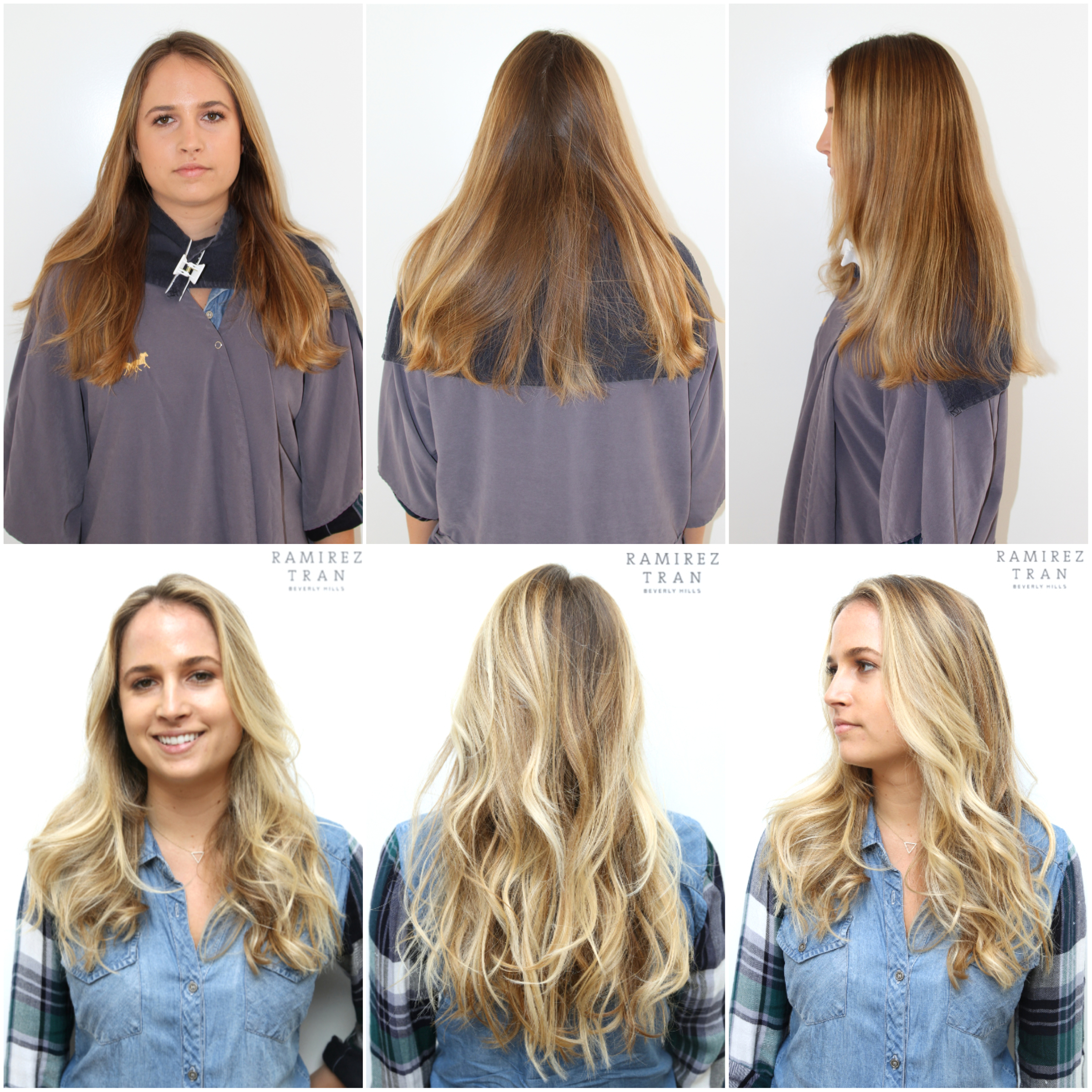 All done in one day the salon in la ramirez tran salon johnny gave this client beautiful sun kissed blonde locks that livened up her facial features and flattered her skin tone her hair before was too warm and pmusecretfo Image collections